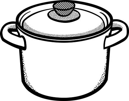 Soup Pot Clipart Black And White.