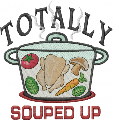 Foods(Machine Embroidery Designs) Embroidery Design: Souped Up.