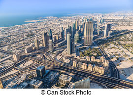 Stock Photography of At The Top of Burj Dubai.