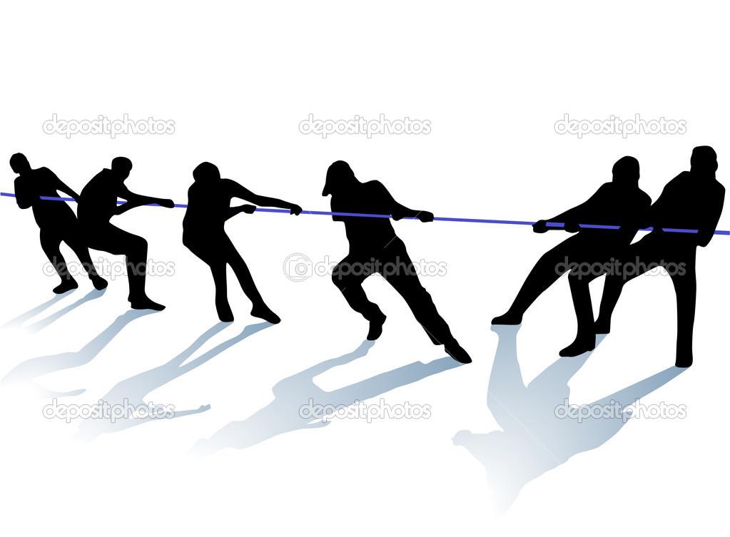 Souque à la corde — Image vectorielle scusi0.