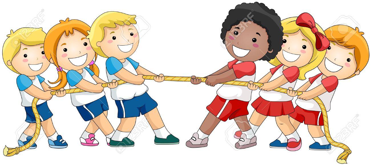 Enfants Jouant De Souque Banque D'Images Et Photos Libres De.