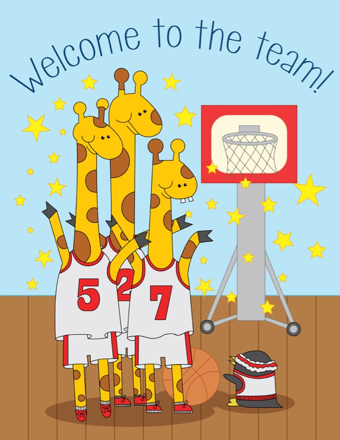 Welcome to the team!, Leslie Pinto, Giraffe, children.