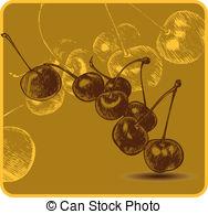 Sour cherries Clip Art Vector Graphics. 480 Sour cherries EPS.