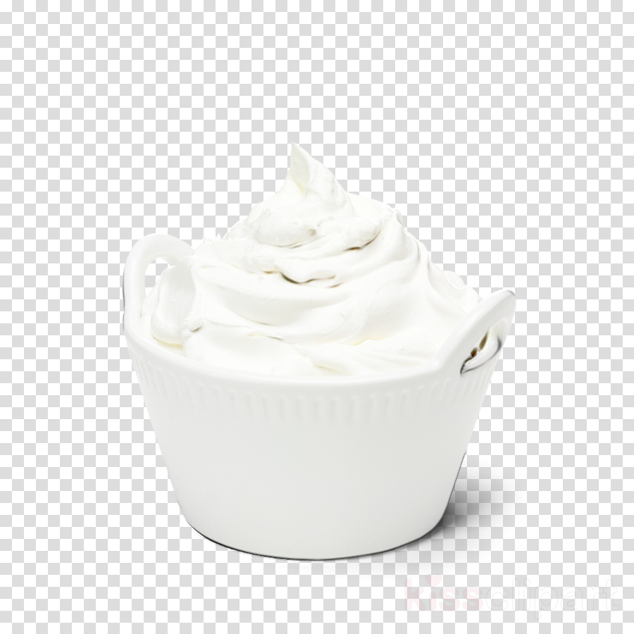 white cream crème fraîche whipped cream sour cream clipart.