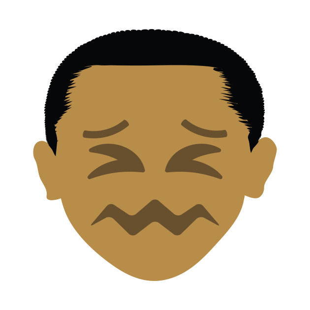 Barack Obama Emoji Sour Face.