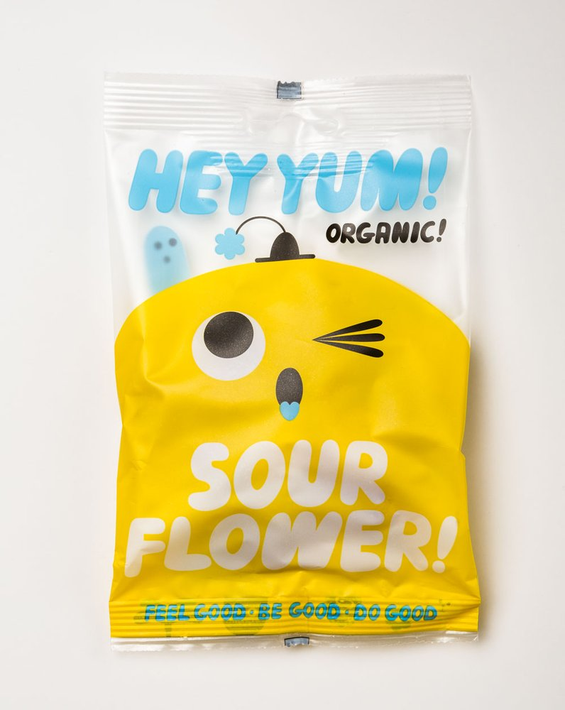 HEY YUM! Organic Sweets — HEY YUM! Sour Flower! organic sour fruit.
