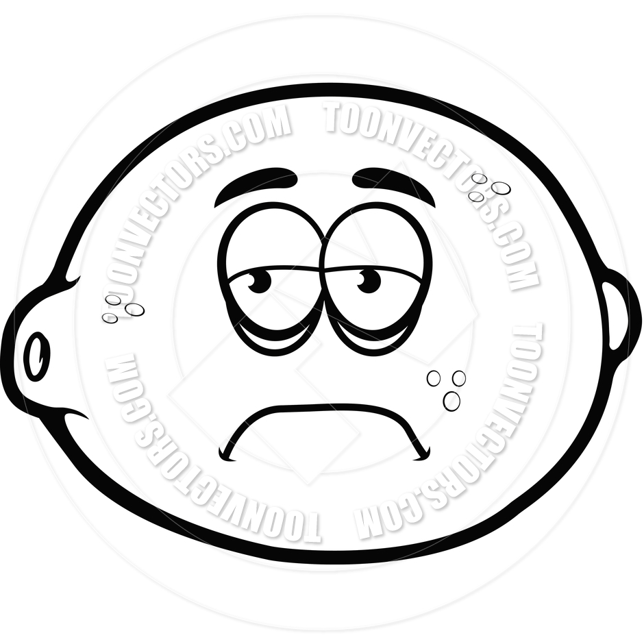 Sour Lemon Face Clip Art Sad.