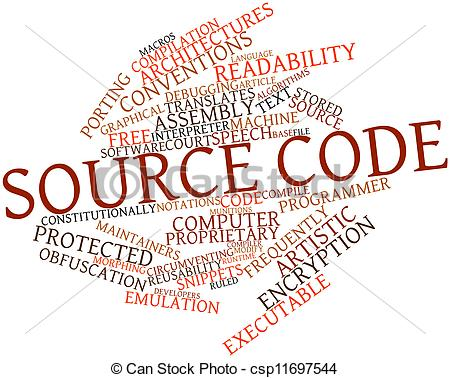 Source Code Clipart.