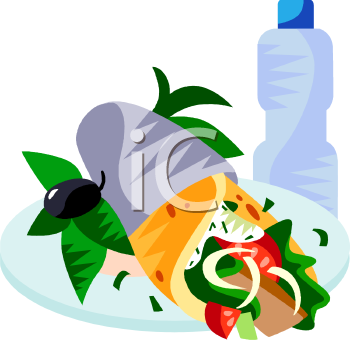 Water and food source clipart.