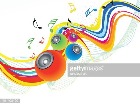 Abstract Rainbow Wave With Sound premium clipart.