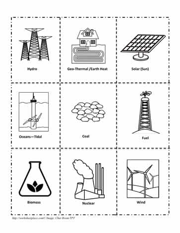 Energy Clipart Worksheets.
