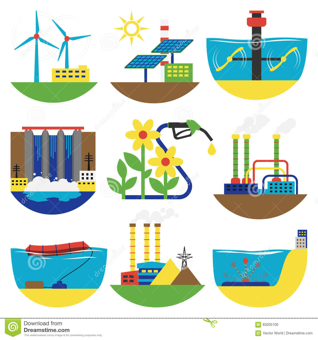 Alternative Sources Of Energy Clipart.
