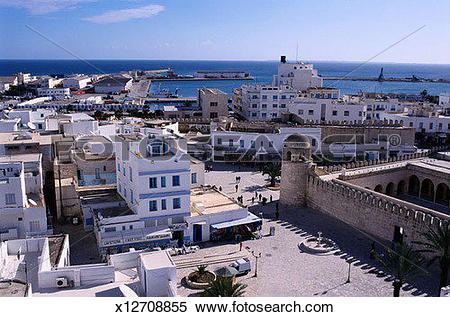 Stock Image of Skyline of Sousse, Tunisia x12708855.
