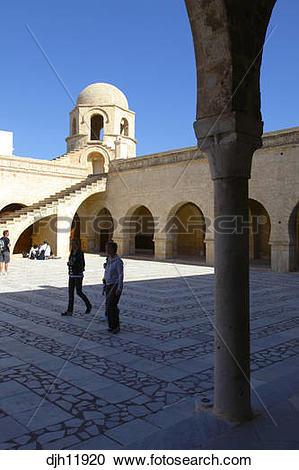 Stock Photography of Africa, Tunisia, Sousse, Medina, Place de la.