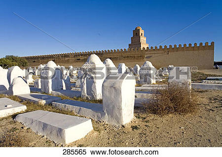 Stock Image of Cemetery near mosque, Sousse, Tunisia 285565.
