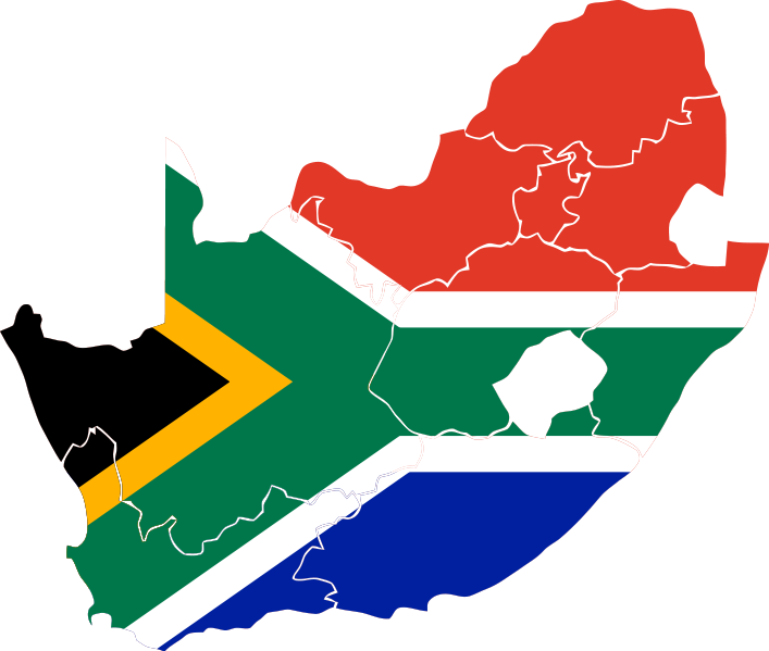 South Africa Map Clipart.