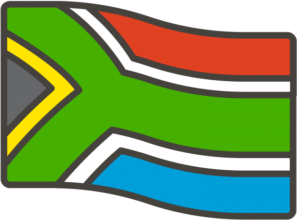 South Africa Flag Emoji.