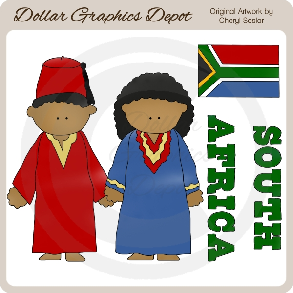 South africa clipart for kids.