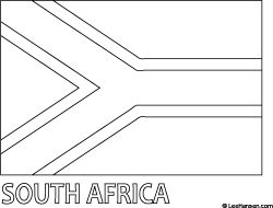 south african flag clipart black and white - Clipground