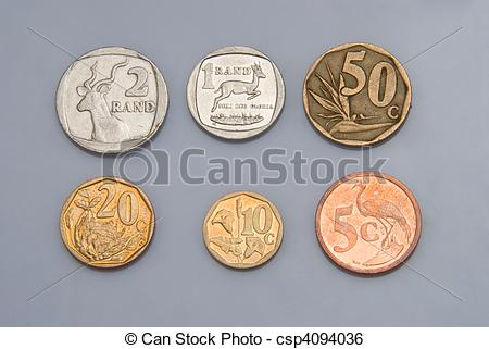 South African Coins Clipart.