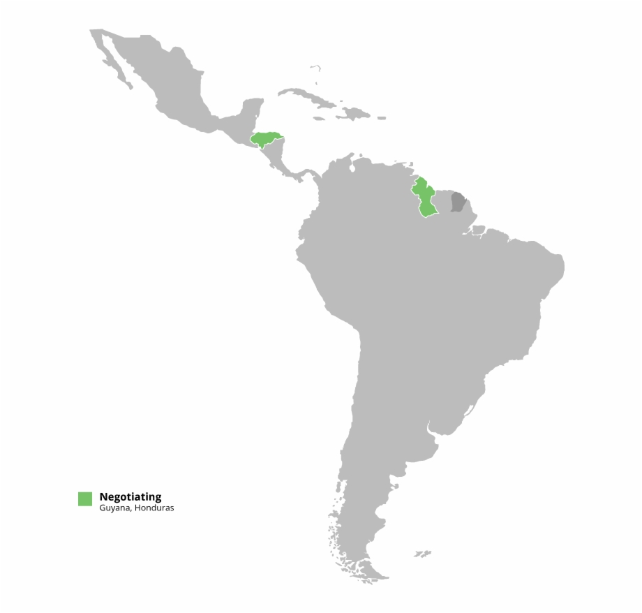 Country In Central America And One In South America.