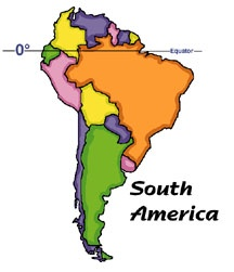 South America Clip Art.