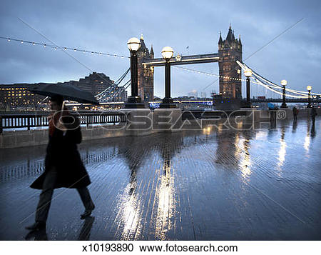 Stock Photography of London Brige and the South Bank River walk.