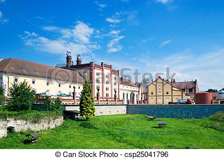 Stock Photographs of brewery, Trebon, South Bohemia, Czech.