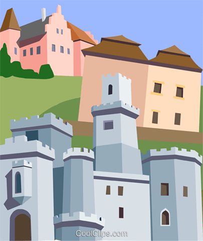 Czech Republic, South Bohemia Royalty Free Vector Clip Art.