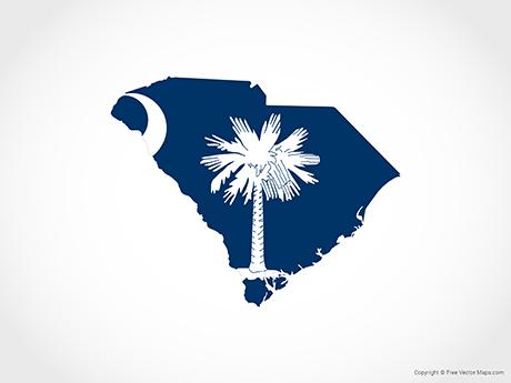 South Carolina Flag Vector Free Download Clip Art.