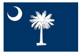 Flag of South Carolina free vector.