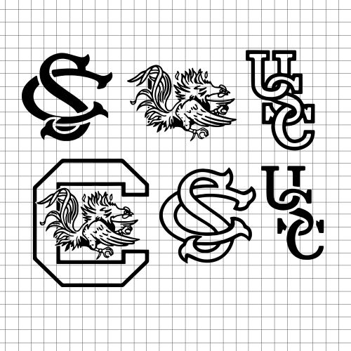 South Carolina Gamecocks logos SVG / Eps / Dxf / Jpg files INSTANT.