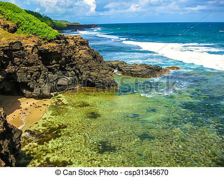 Picture of Mauritius South Coast.