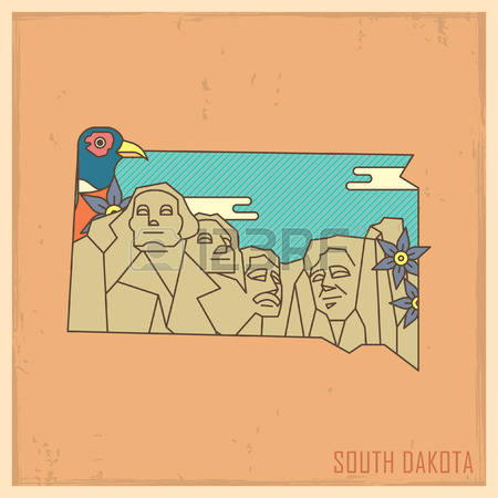 1,465 South Dakota Stock Vector Illustration And Royalty Free.
