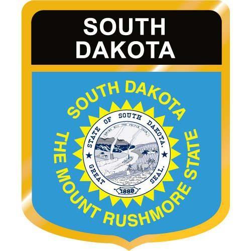 South Dakota Flag Crest Clip Art.