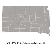 South dakota map Clipart Royalty Free. 300 south dakota map clip.