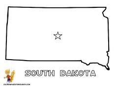 South Dakota Outline Clipart Clipground - south map outline
