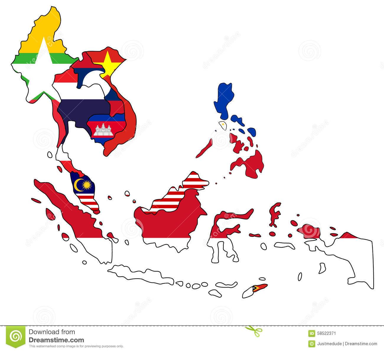 Southeast Asia Map.