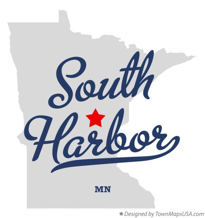 Map of South Harbor, MN, Minnesota.