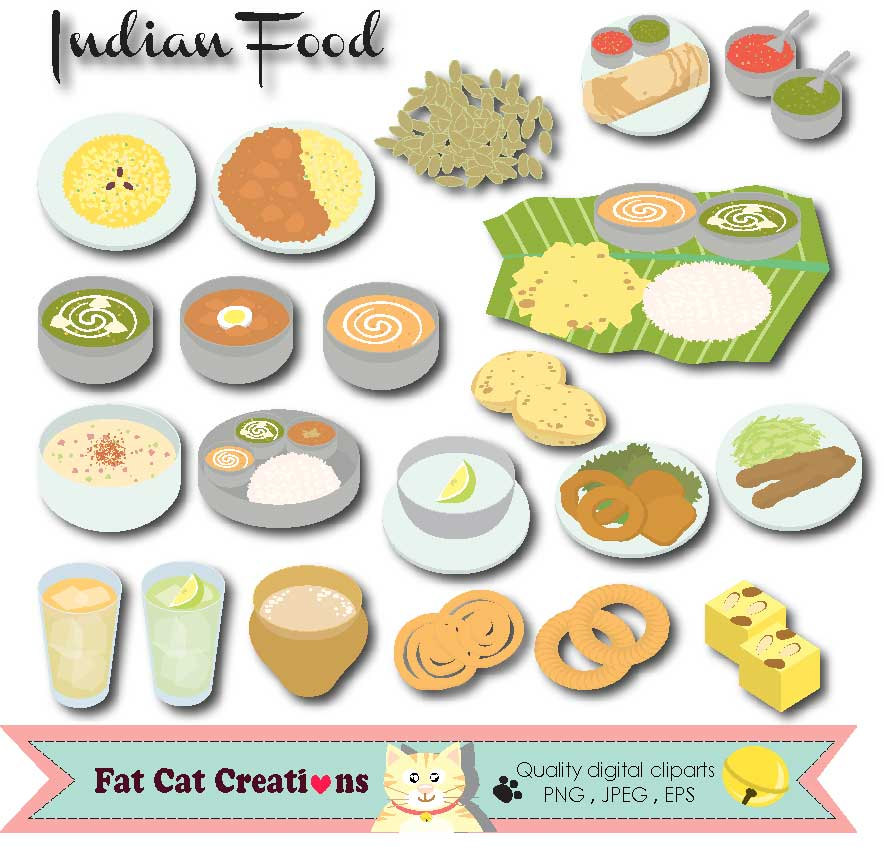 South indian food clipart.
