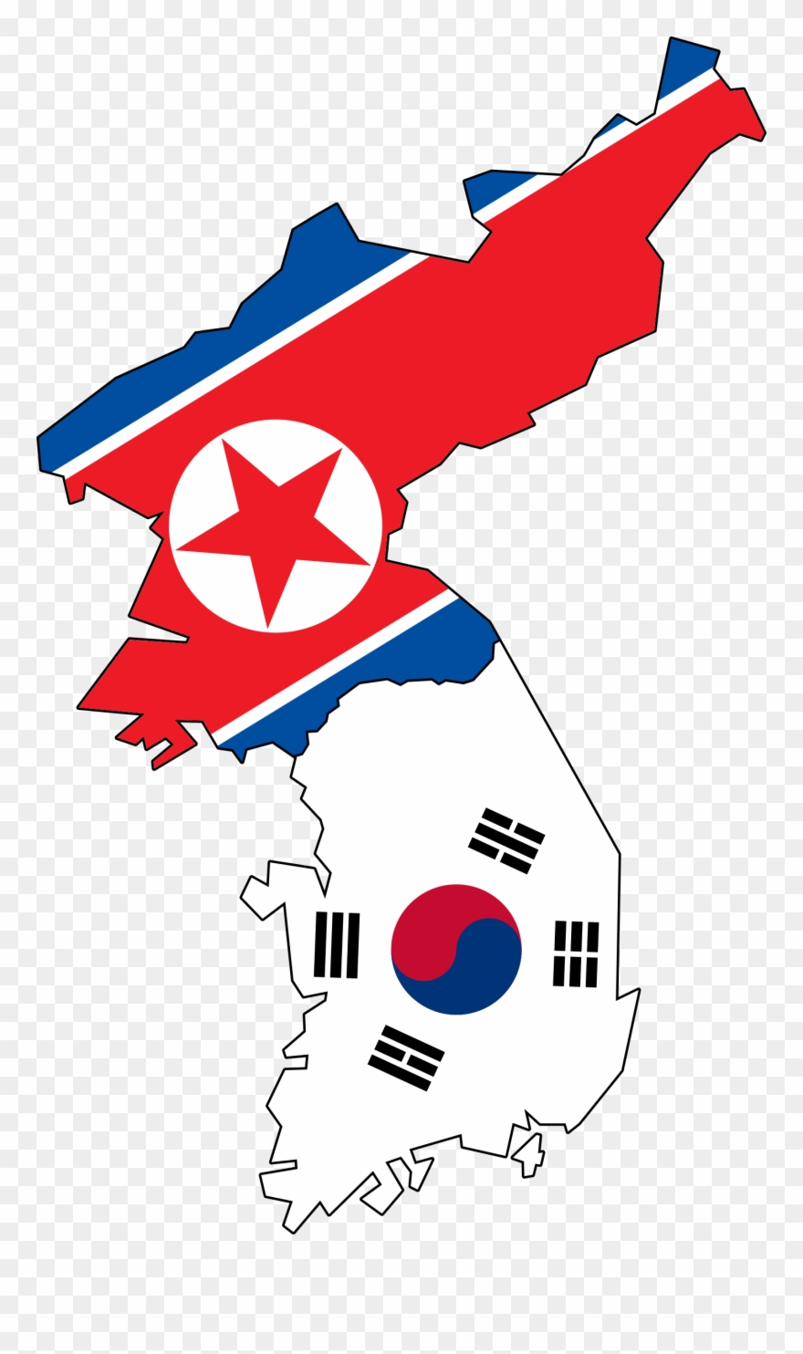 North And South Korea Map Helderateliers.