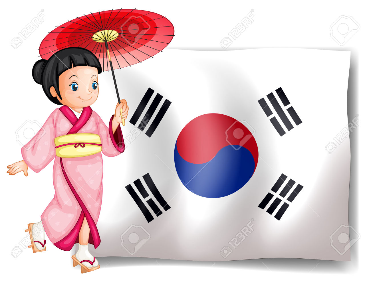 Showing post & media for South korea flag cartoon.