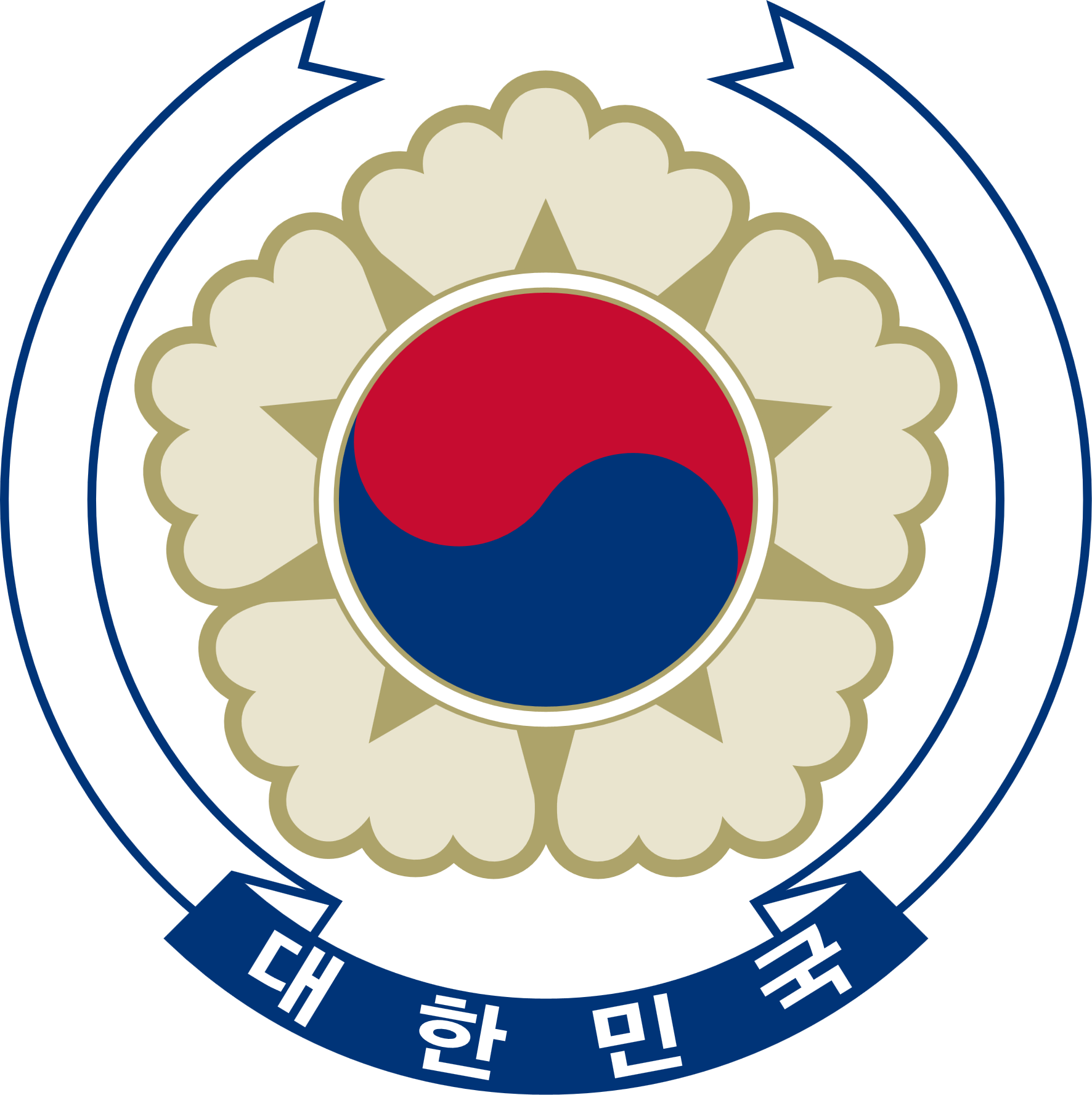 Coat Of Arms Of South Korea.