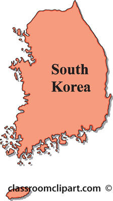 South korea map clipart.