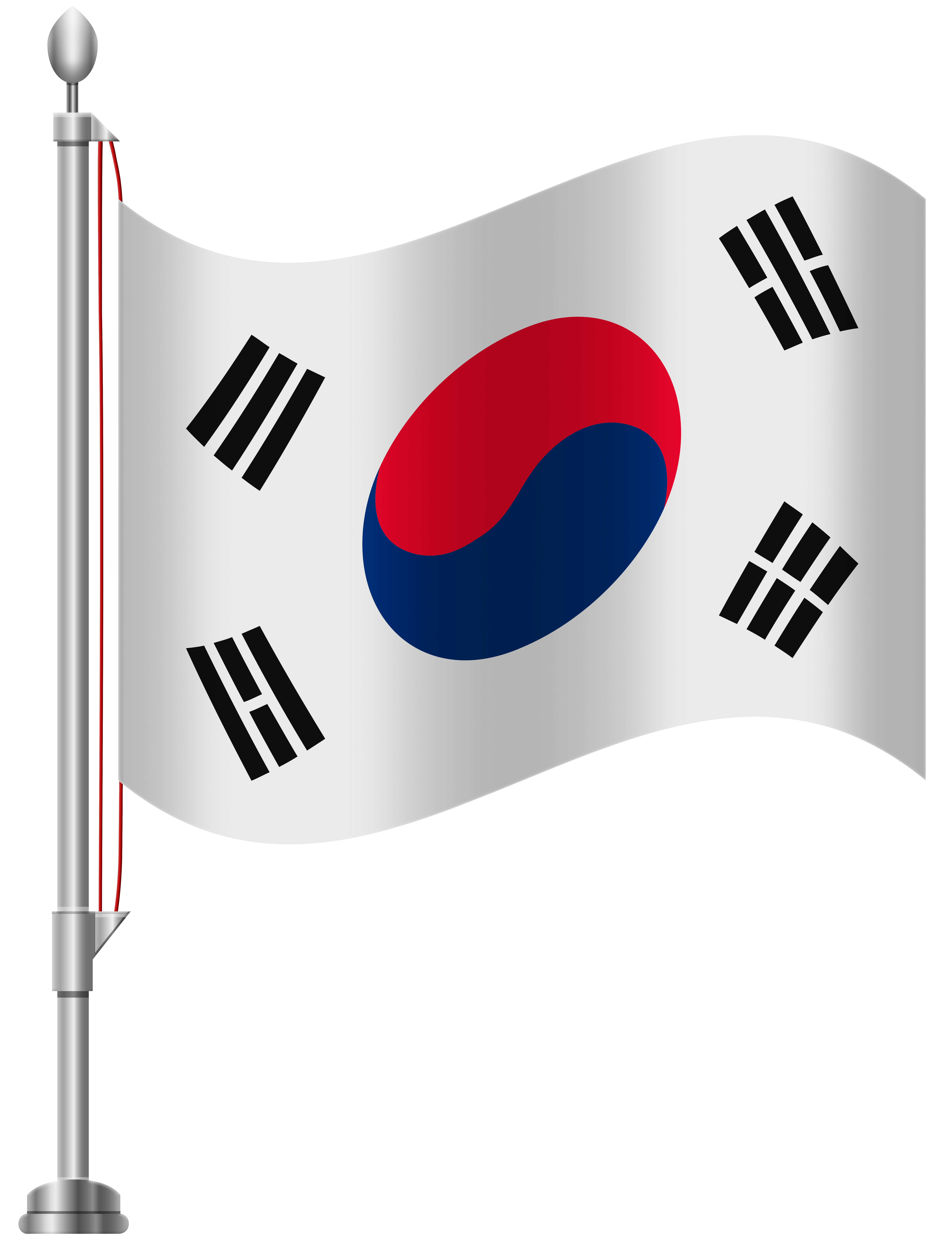 South Korea Flag PNG Clip Art.