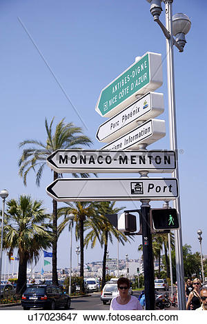 Picture of Road sign in Nice, South France u17023647.