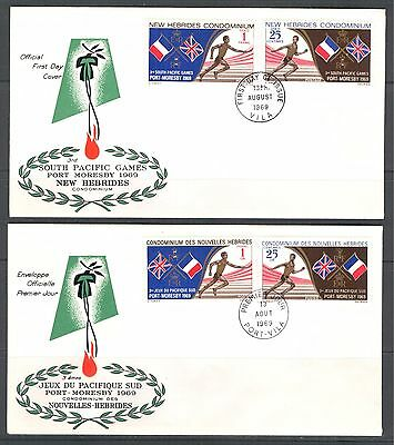 SOUTH PACIFIC GAMES ON NEW HEBRIDES 1969 BR. + FR. Sc 133.