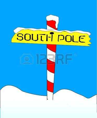 North and south pole clipart.