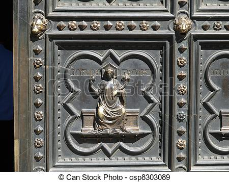 Stock Photographs of Florence Baptistery.
