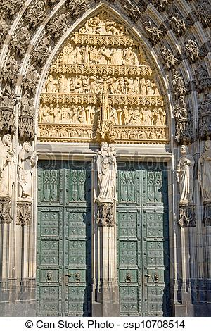 Stock Photography of Portal of Cologne Cathedral.